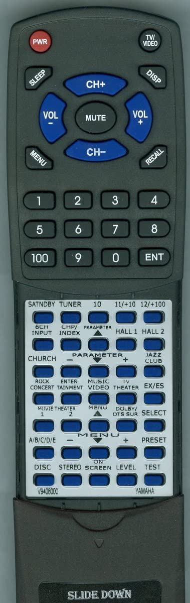 RXV3300 RAV226 Replacement Remote Control for Yamaha V9408000