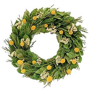 Floral Treasure Midsummer Garden Wreath, Green 58