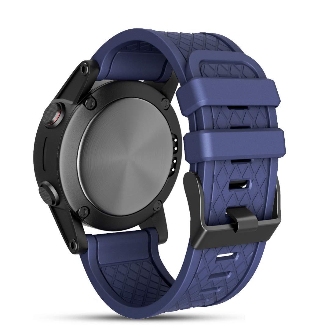 Cyeeson Soft Silicone Wristband for Garmin Fenix 1/ Fenix 2/ Fenix 3/ Fenix 3HR/ Fenix 5X, Strap Smartwatch Bracelet Band