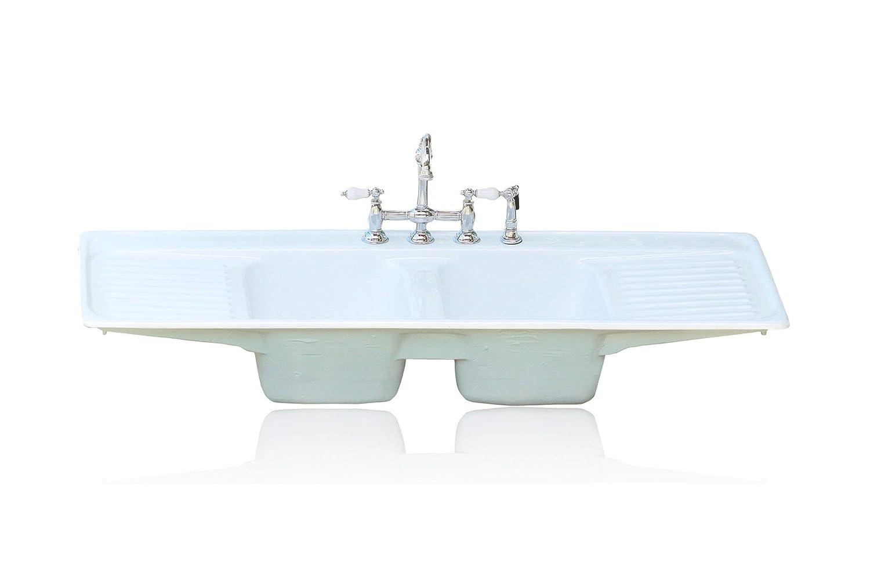 - Amazon.com: Large Double Basin Aqua Farm Sink Double Drainboard