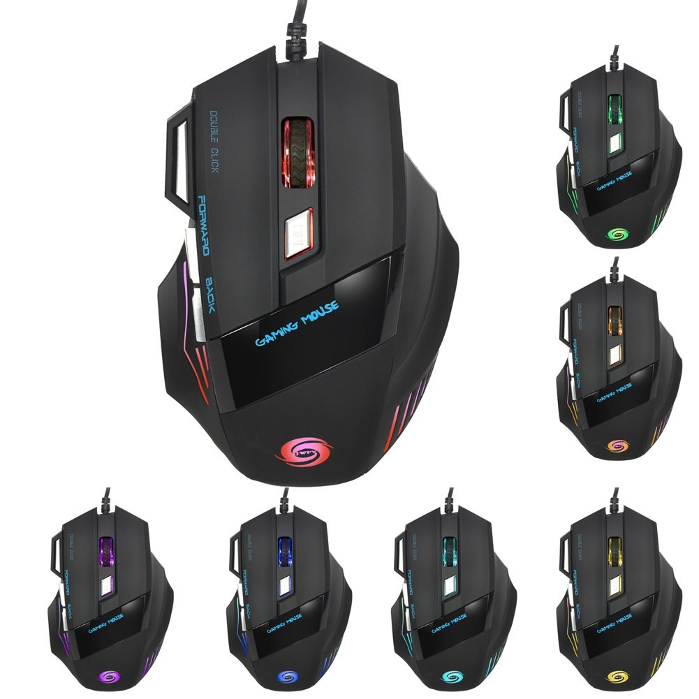 Saalising Mechanical Gaming Mouse RGB Breathing Light Wired Optical Engine Mouse for Gamer Pattern : Cyclone