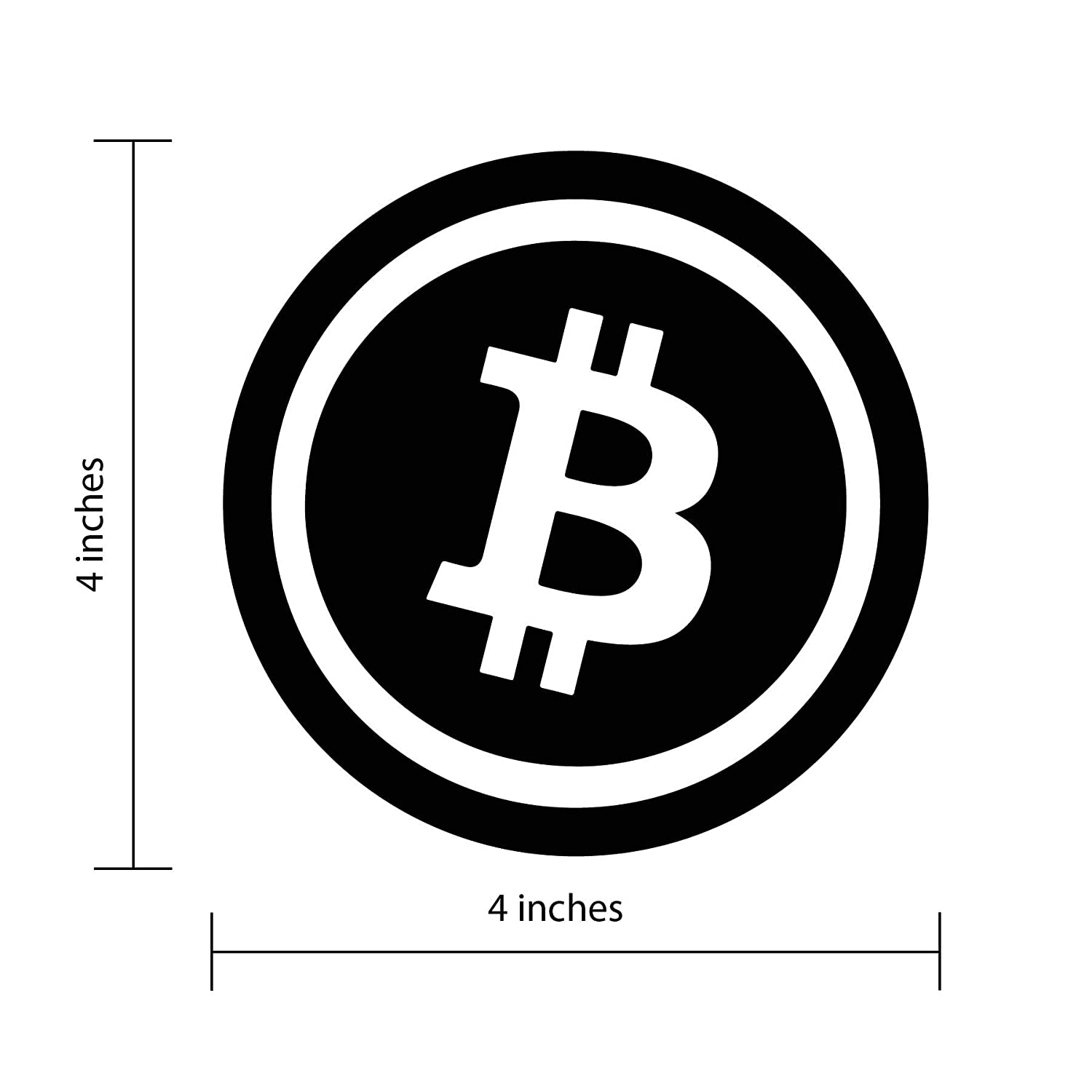 4Pillars Bitcoin Cryptocurrency Bumper Sticker Blockchain Perfect for Cars 4 Inch Diameter Stickers