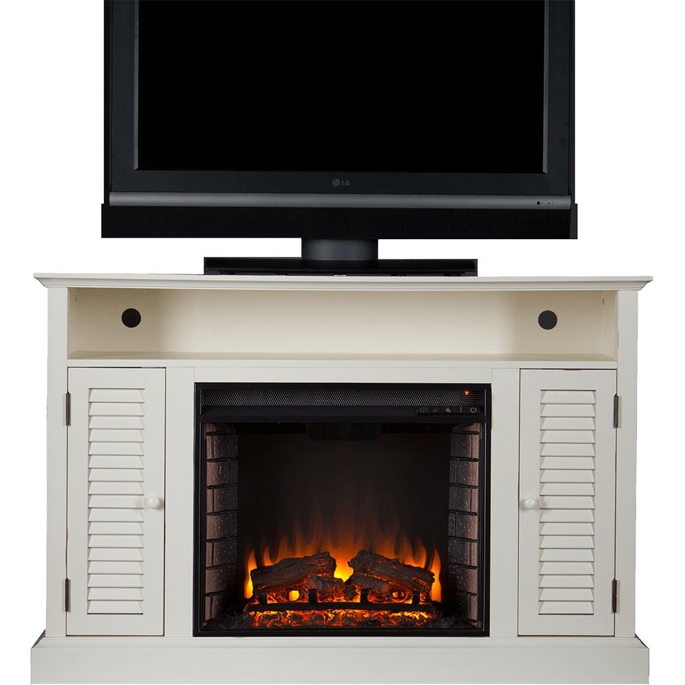fireplace media corner ratner electric convertible infrared faux stone