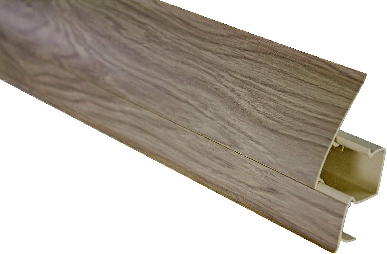30 Meter PVC Plinthes Moderne Plinthes Canal de C/âbles 0109 Socle 23x65mm