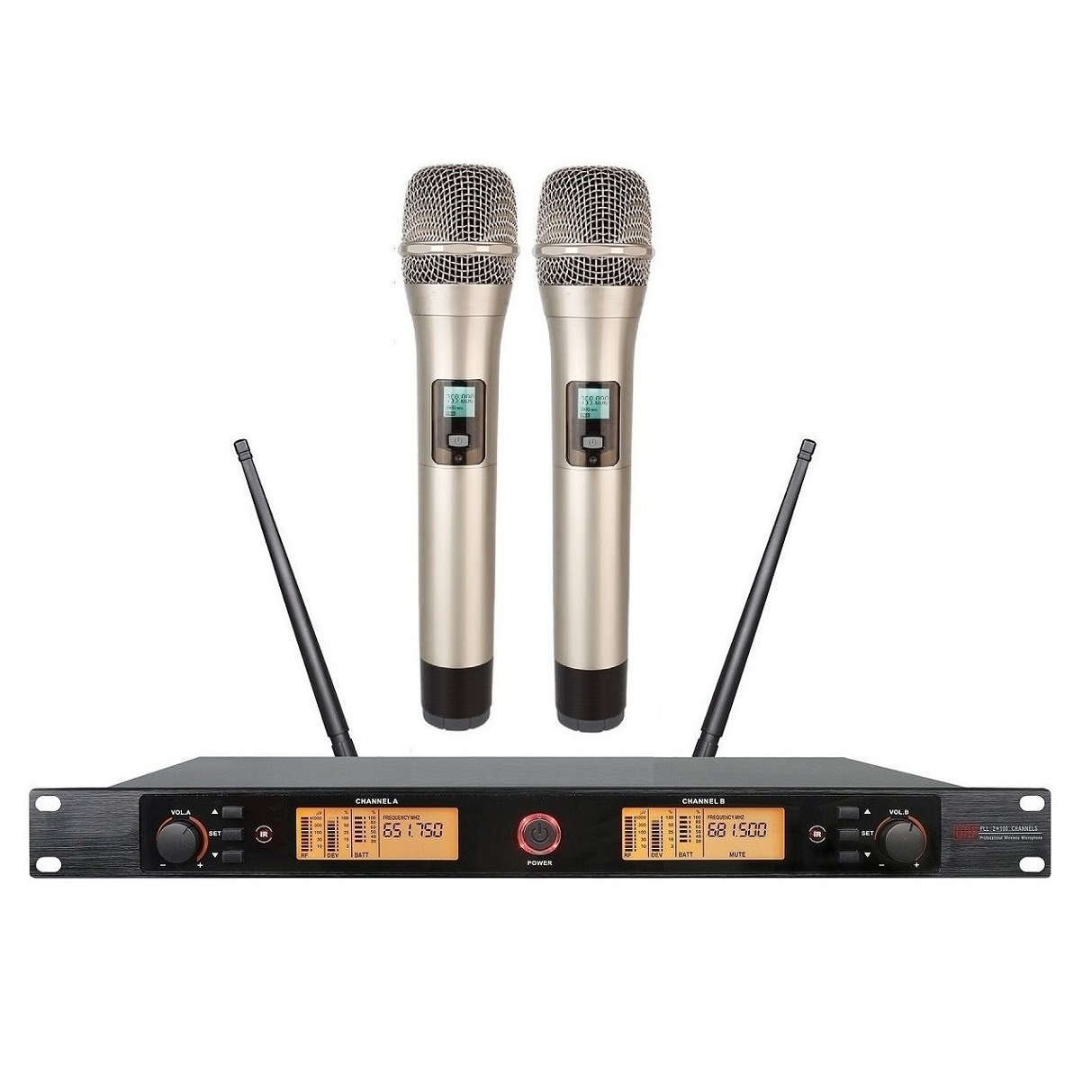 uhf wireless microphone Karaoke Professional wireless microphone Dual Channels PLL For Church,Home Karaoke, Business Meetings.Easy To Set Up