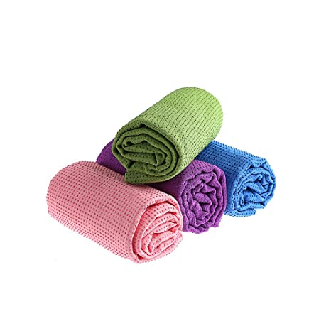 sunsang Yoga Mat Towels with Silicone Beads for extra Firm ...