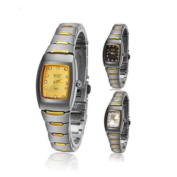 Relojes de Lujo Relojes de pulsera Entre Oro impermeable Plaza elegante regalo Blanco Negro Amarillo