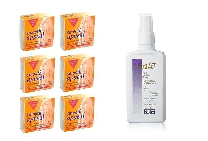 Seis Smooth Appeal - Cera de vello facial microondas fórmula Plus ...