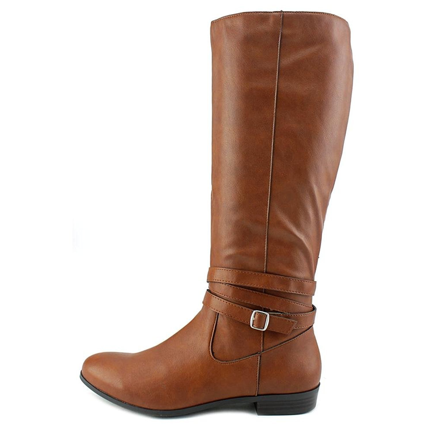 Style & Co.. Womens Fridaa Round Toe Mid-Calf Riding Boots, Brown, Size 9.5
