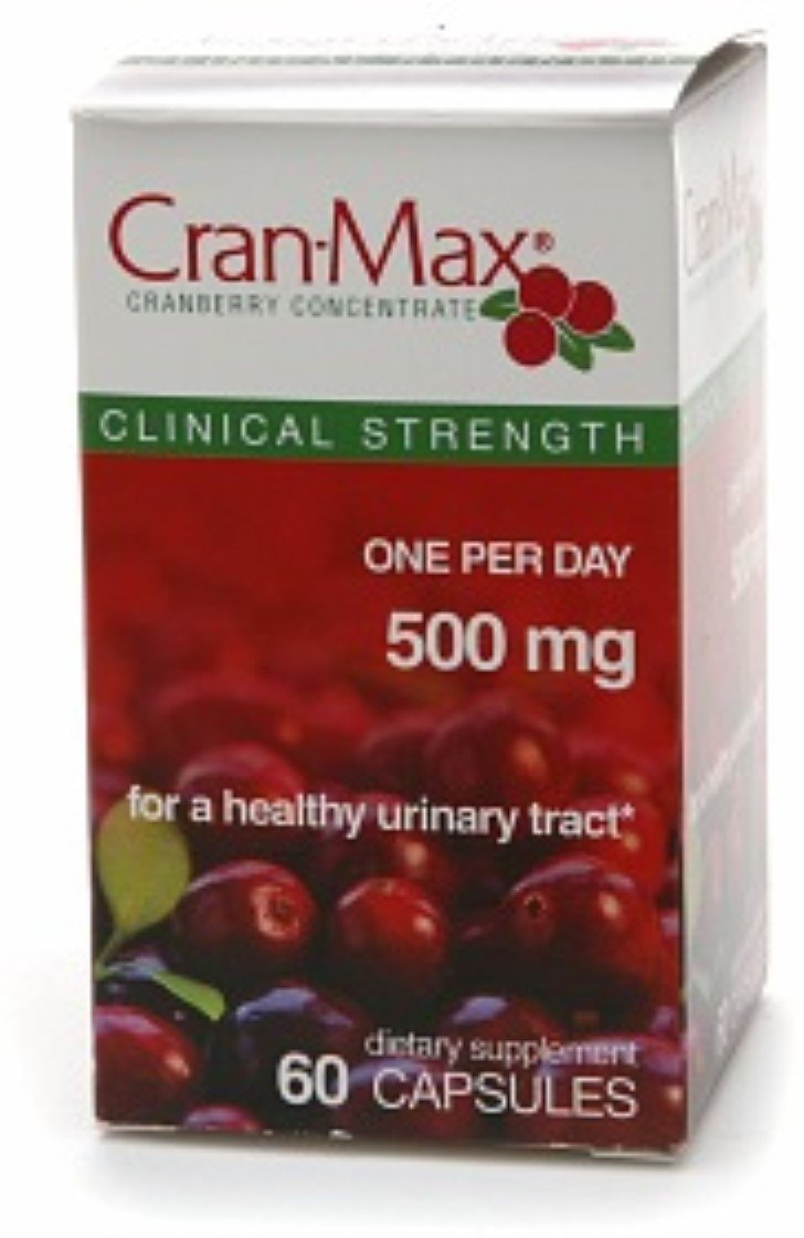 Cran-Max Cranberry Concentrate Dietary Supplement 500 mg Capsules 60 Capsules (Pack of 5)