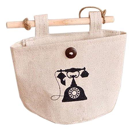 Lumanuby 1 x Colgar Bolsas de algodón y Lino Vintage Pared ...