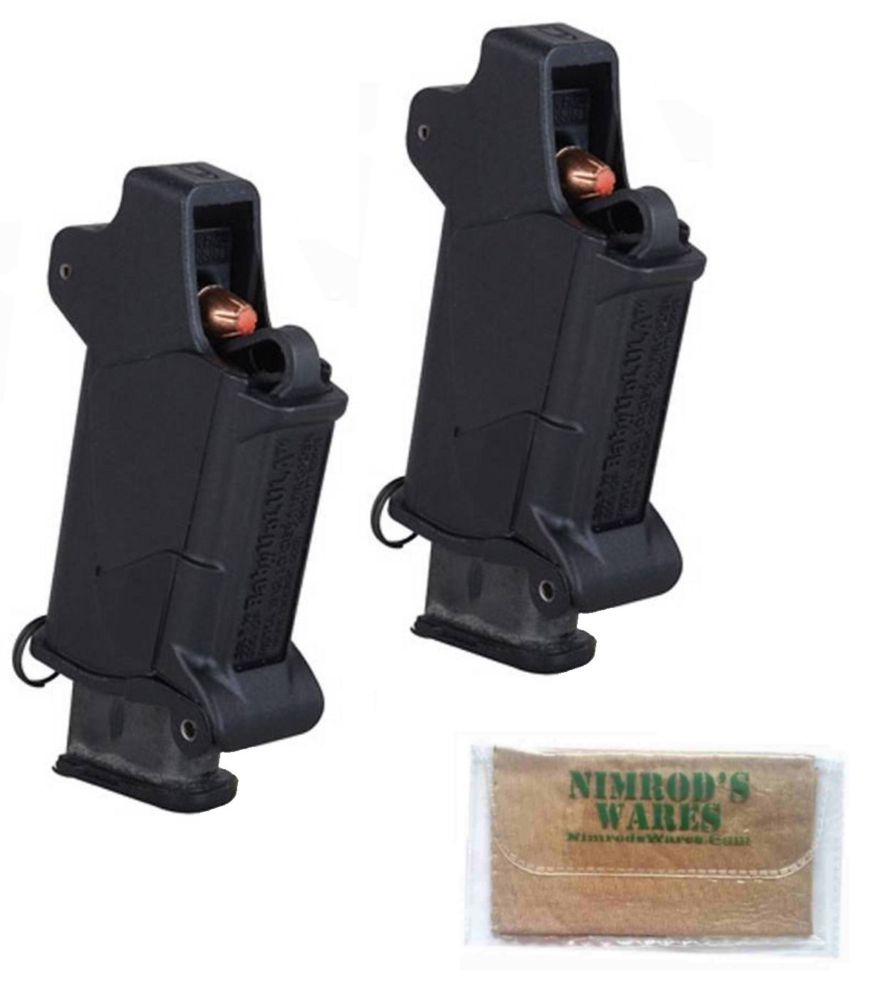 Nimrod's Wares 2-Pack Butler Creek 24223 Baby UpLULA Pistol Magazine Loaders 22-.380 Microfiber Cloth