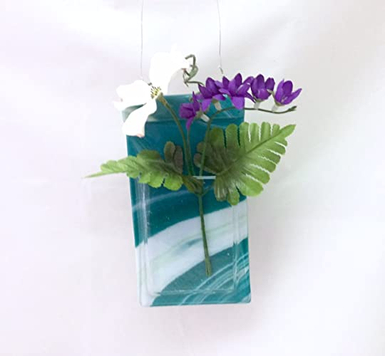 Amazon Pocket Vase Peacock Fused Glass Wall Hanging Vase 65 X