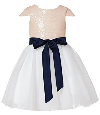 33f368e2720 princhar Sequin Tulle Short Girl Dress Little Girls Party Toddler Dress US  2T Blush
