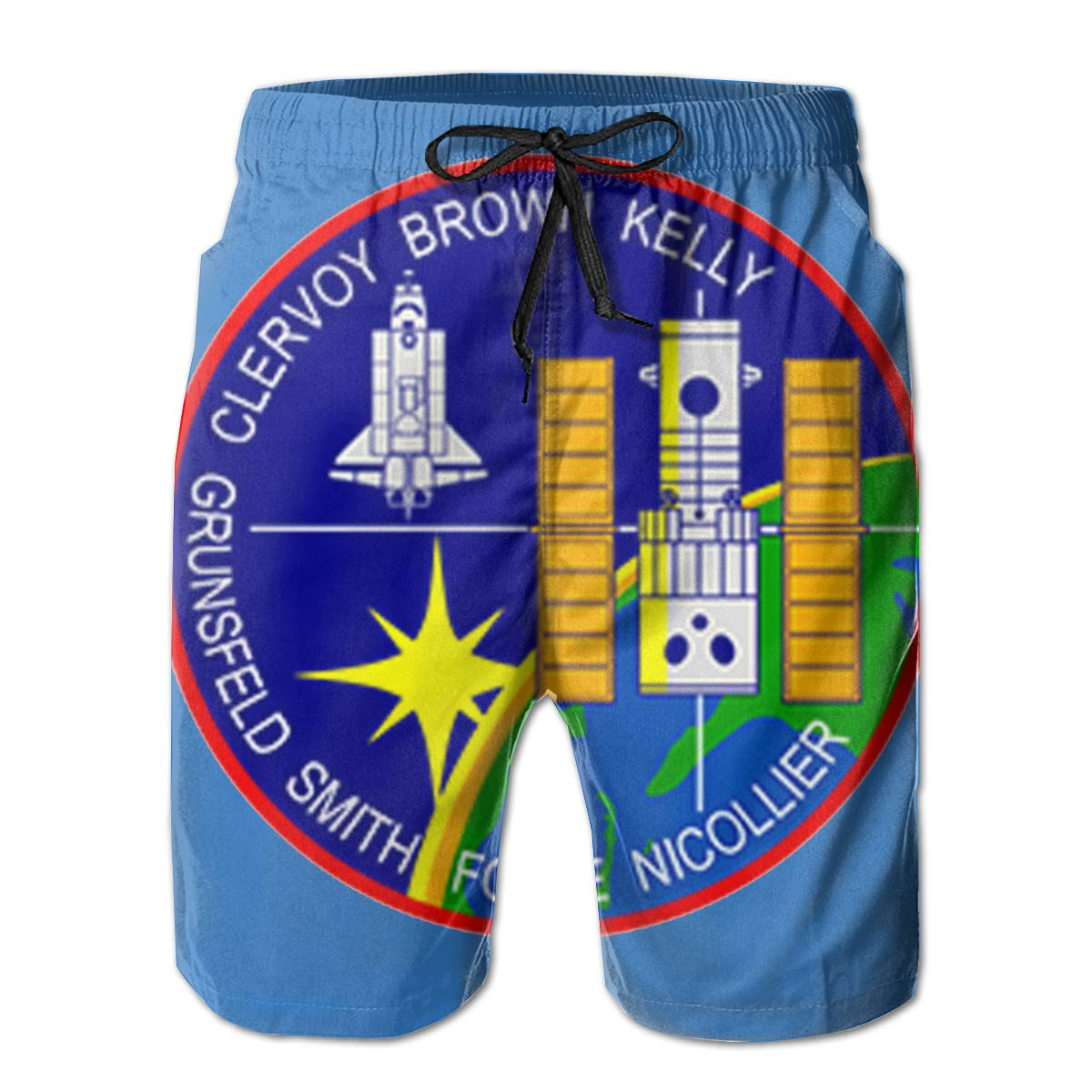 STS-103 Mission Patch Mens Swim Trunks Board Shorts
