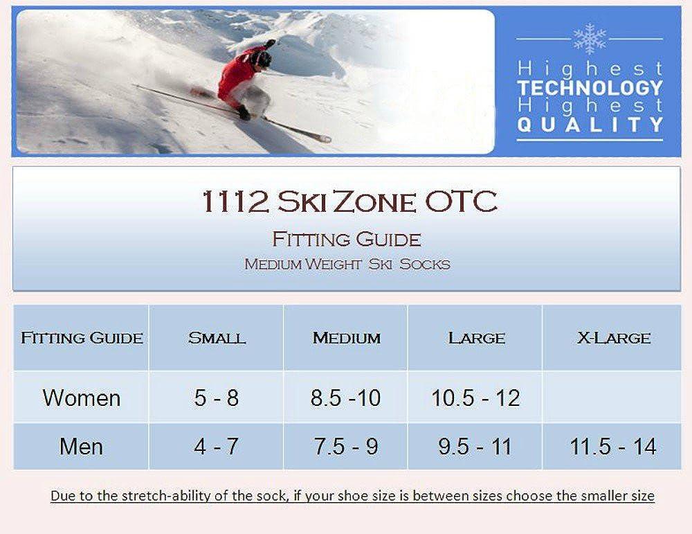 1112 Eurosocks Ski Zone Snow Skiing Socks
