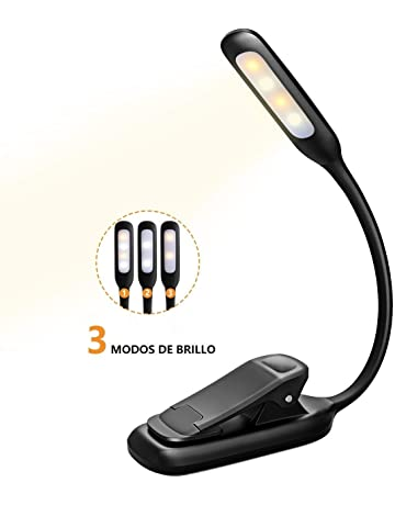 TOPELEK Luz de Lectura para Libro,3 Modos de Brillo, Flexo Lectura Recargable Cable