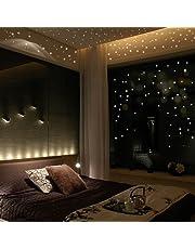 Prevently Home Pegatinas de Pared para Decorar la Habitación de los Niños, 407 Unidades, Diseño de Estrella en la Oscuridad, Diseño de Lunares Redondos