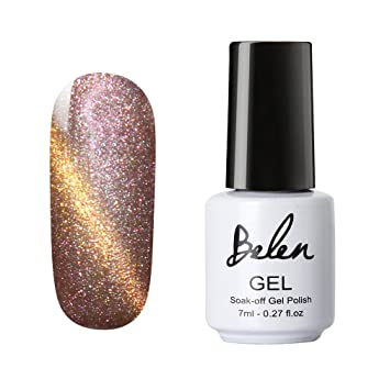 Belen Magic magnético de ojo de gato 3d efecto gel polaco laca de uñas 7 ml UV LED sellador Fundación Nail Art Soak Off brillante Manicura Pedicura: ...