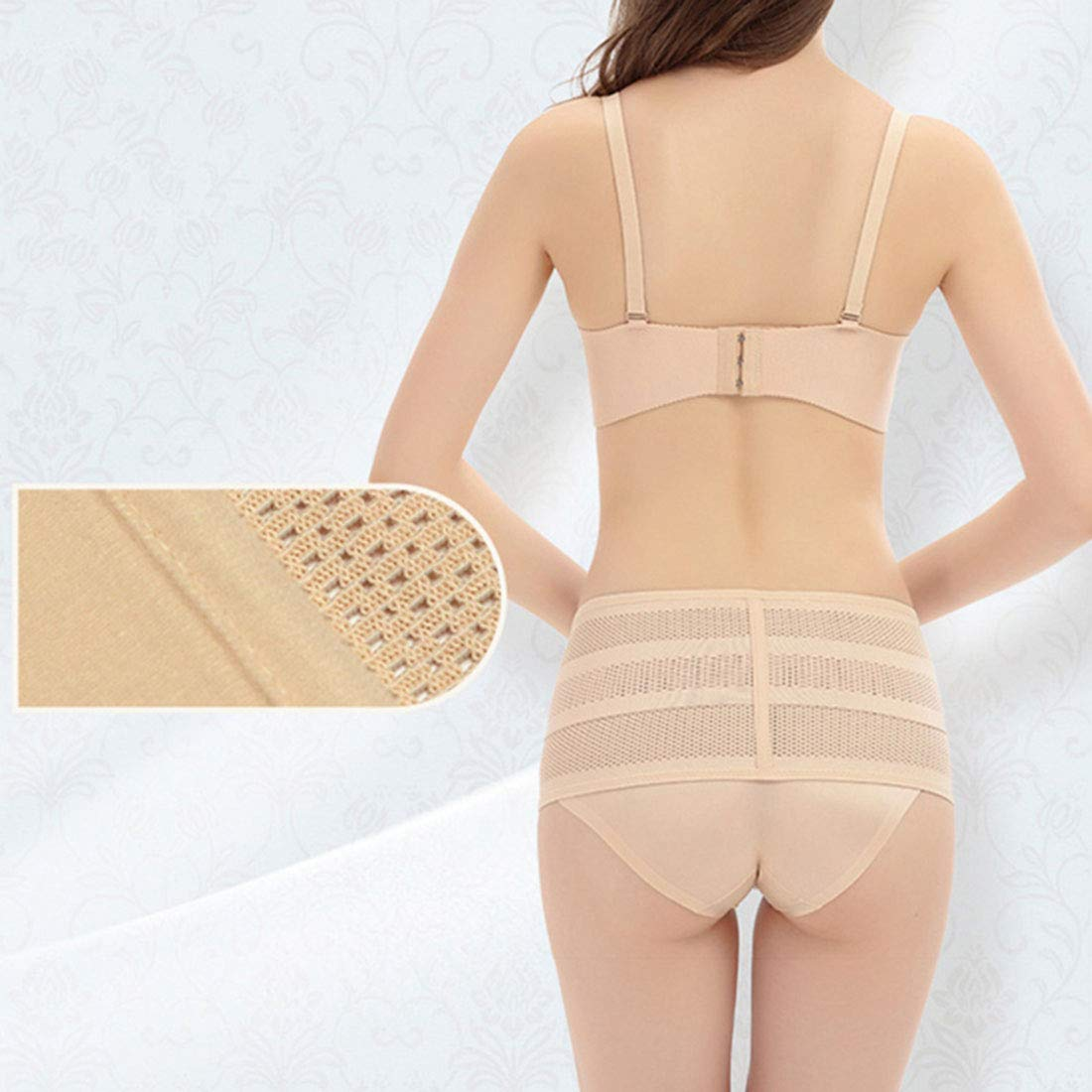 Surrui Women Lace Pelvic Correction Support Belt Adjustable Control Panties Lift Hip Postpartum Recovery Boby Shaping