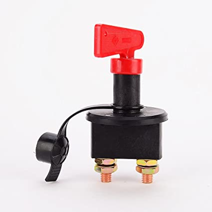 Battery Disconnect Switch Battery Switches Keenso Waterproof Battery Isolator Power Cut On/Off Switch Max DC 50V for Marine Car Boat RV ATV Vehicles