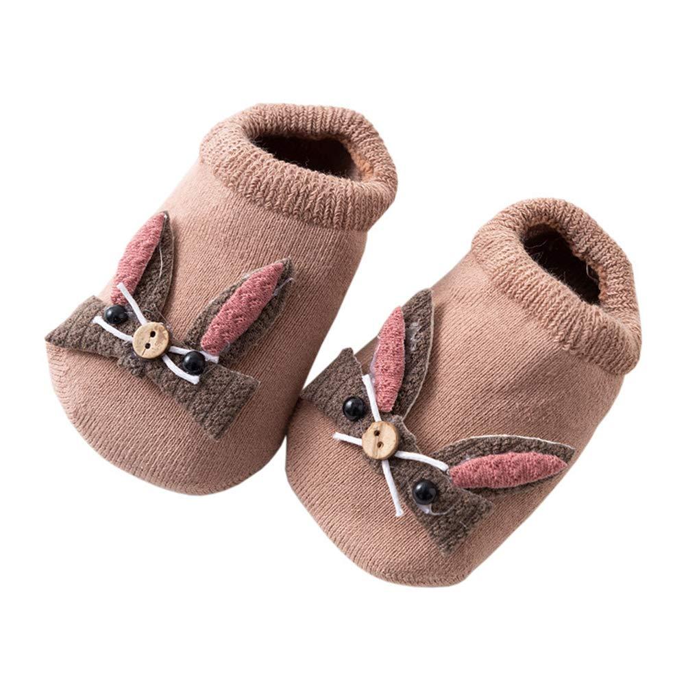 Estwell 6 Pares Calcetines Antideslizantes para Beb/é Ni/ños Ni/ñas Lindo Coneja Invierno Algod/ón Bebe Calcetines