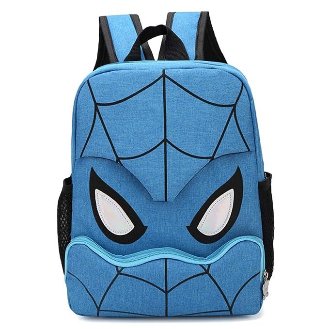 Mochila Escolar Para Niños Adolescentes Ligeros Mochilas Para Niños Y Niñas Spider-Man Bolsas Escolares De 6-12 Años,Blue(1)-30 * 22 * 12cm: Amazon.es: Ropa ...