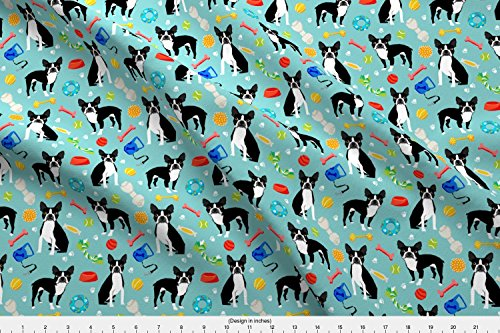 Spoonflower Boston Terrier Fabric Boston Terrier Toys, Dog Toy, Cute Dogs Dog Toys Best Dog Fabric for Home Decor Textiles by Petfriendly Printed on Basic Cotton Ultra Fabric by The Yard - Cotton Home Decor Fabric