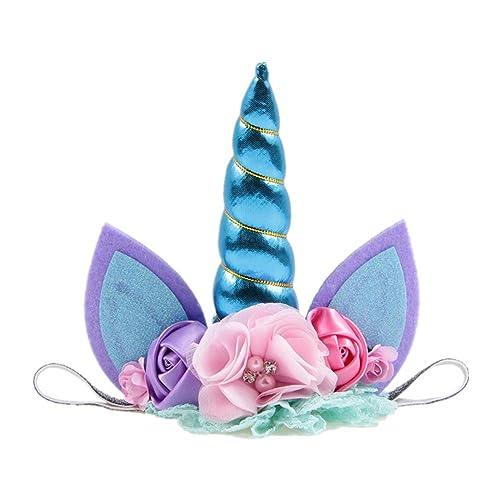 Cupcinu Diadema de unicornio Diadema fiesta de cumpleaños ...
