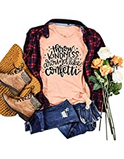 MAXIMGR Throw Kindness Around Like Confetti T-Shirt Women Teacher Shirt Be Kind Inspirational Shirts Top