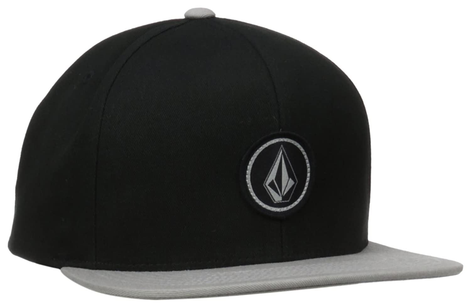 80fdb71c5b2 Six panel adjustable snapback hat featuring round Volcom stone patch at  front. Flat brim. One size fits all