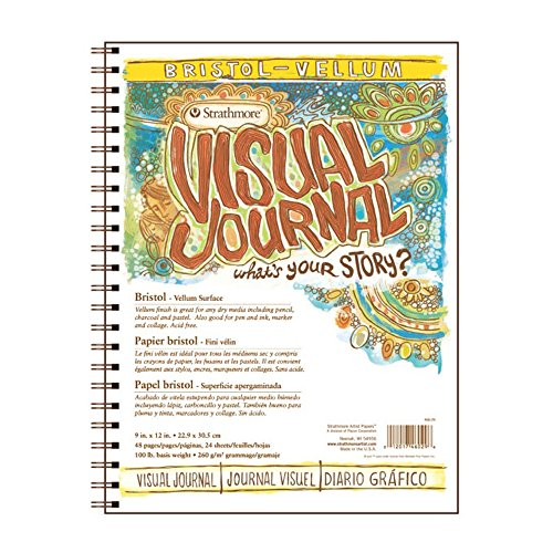Strathmore 300 Series Visual Bristol Journal, 9''x12'' Vellum, Wire Bound, 24 Sheets by Strathmore