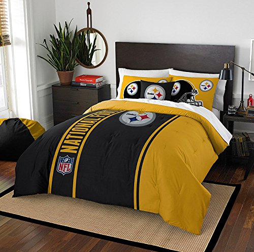 Pittsburgh Steelers Embroidered Twin Comforter & Sham Set, NFL Boys Bedding by NFL