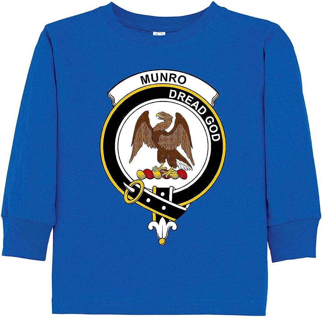 Tenacitee Toddlers Scottish Clan Crest Badge Munro Long Sleeve T-Shirt