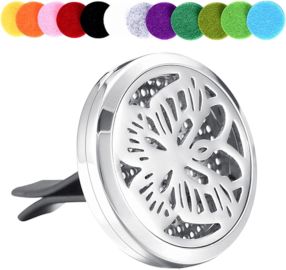 memorial jewelry Car Aromatherapy Essential Oil Diffuser Stainless Steel Locket Diffuser with 12 Refill Pads