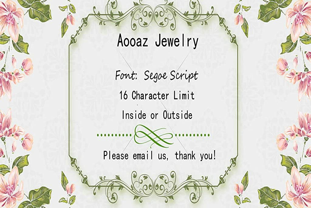 Aooaz Free Engraving Ring for Men Black Silver CZ Forever Love 6MM Size 8 Wedding Promise Novelty