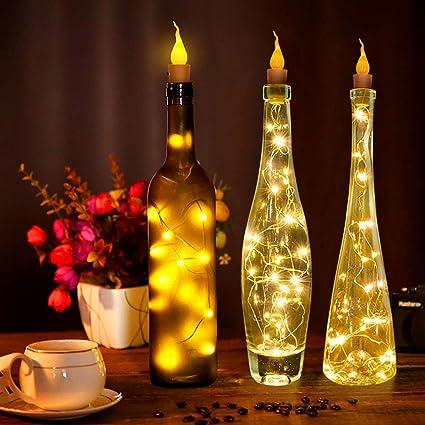 Zdmathe - Guirnalda Luminosa con Botella de plástico y tapón ...