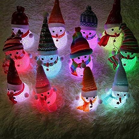 doolland christmas snowman led night lights christmas tree decorations indoor outdoor garden led lights with battery - Indoor Christmas Decorations Amazon