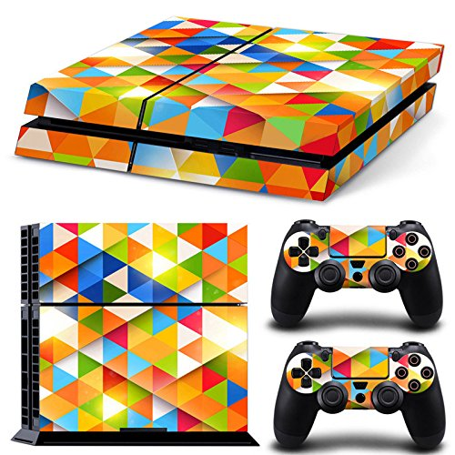 Gam3Gear Pattern Series Decals Skin Vinyl Sticker for PS4 Console & Controller - Triangle Kaleidoscope