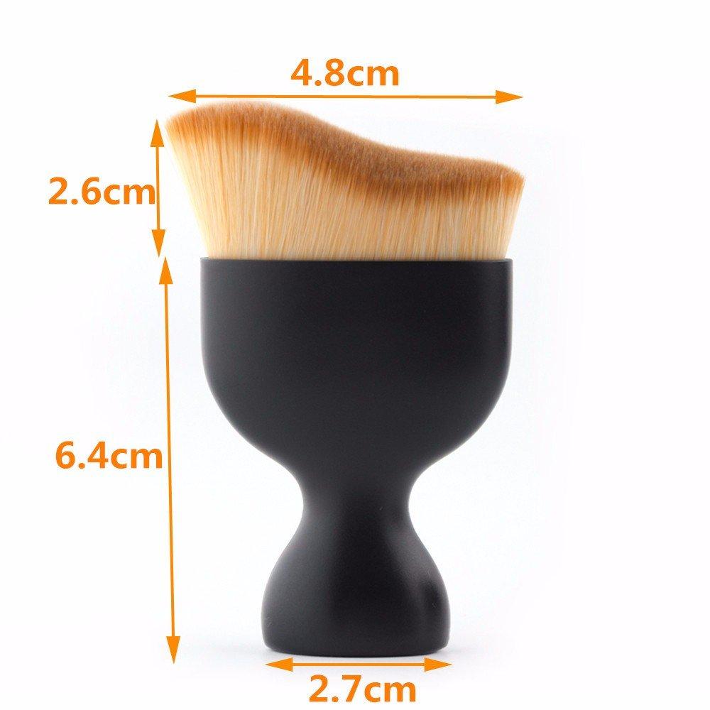 ovalada cepillo de dientes Lover Bar Curve Liquid Foundation brush-beauty Cosmetics tools-professional Contour brush-pro de maquillaje Make Up Face - Brocha ...