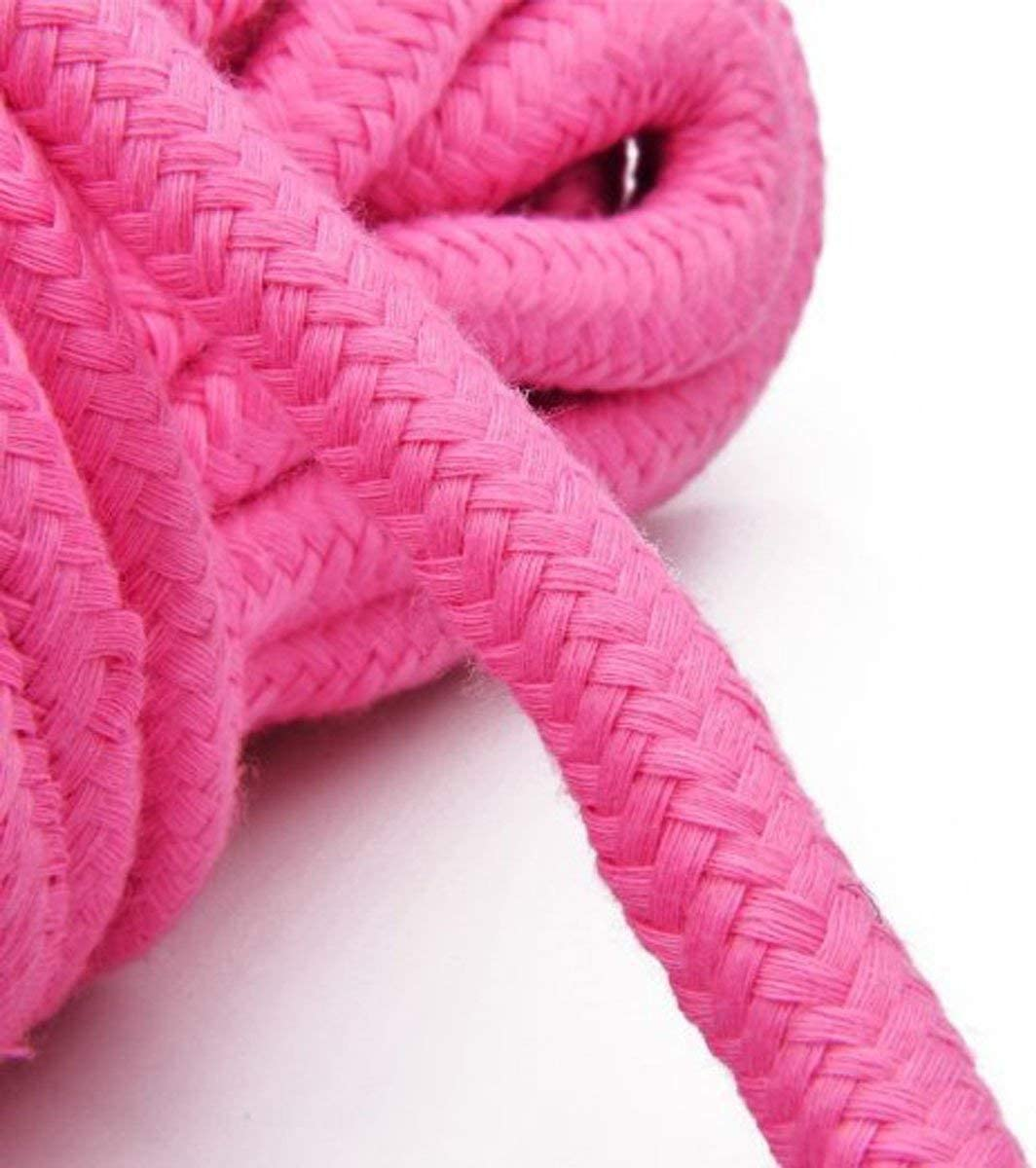 Pink Soft Cotton Rope-32 feet 10m Multi-Function Natural Durable Long Rope