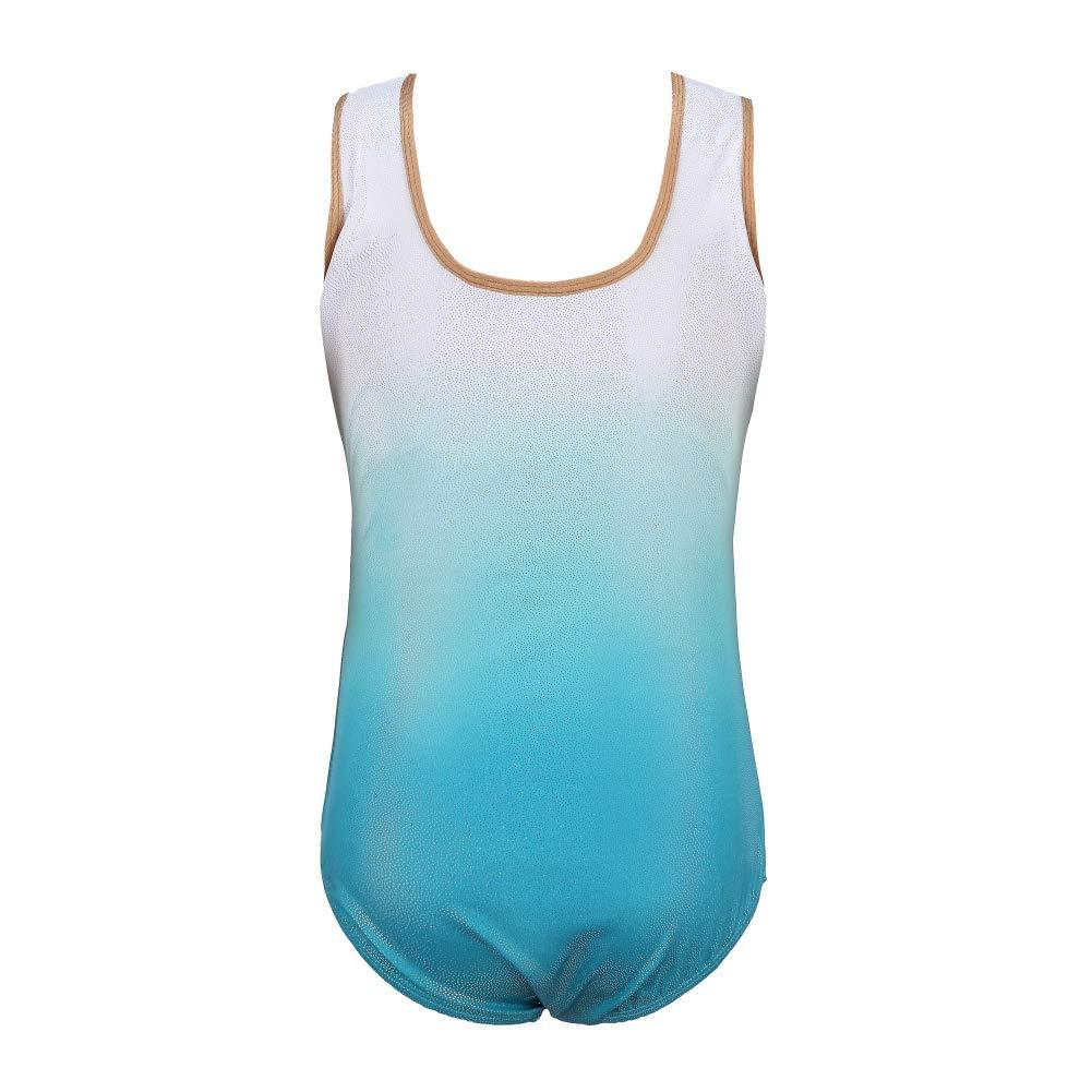 Nyutop 5-14 Jahre M/ädchen /ärmellos Gymnastikanzug einteilig Kind Kinder Ballett Tanzbekleidung Kinder Training Dancewear