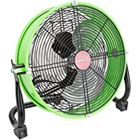 OEMTOOLS 24892 12 Tilting Drum Workspace Fan-Green