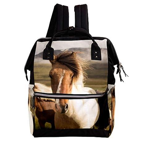 Tres caballos Cambio de mochila, bolsa de pañales para bebés ...