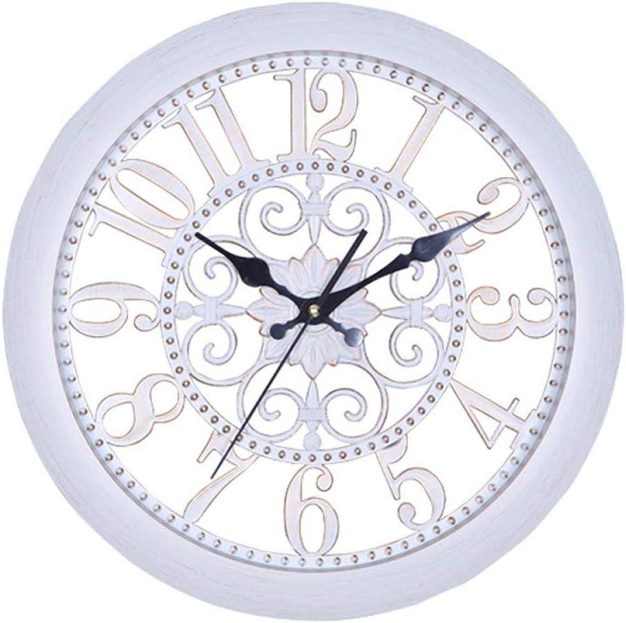 NA Reloj de Pared Reloj De Pared Retro Europeo Diseño Moderno Relojes Clásicos Estilo Antiguo Reloj De Pared Grande Silencio Sin Vidrio Decoración para E