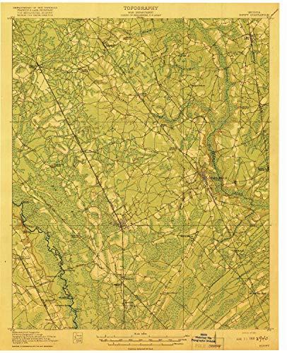 YellowMaps Dalton GA topo map, 1:62500 Scale, 15 X 15 Minute, Historical, 1919, 19.8 x 16.1 in - Polypropylene (Cohutta Ga)