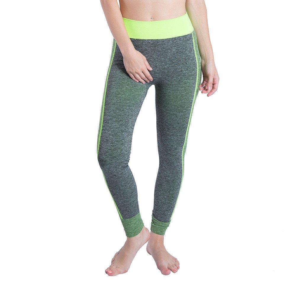 Leggings for Girls, Yoga Clothing,Women Gym Yoga Patchwork Sports Running Fitness Leggings Pants Athletic Trouser,Green,S