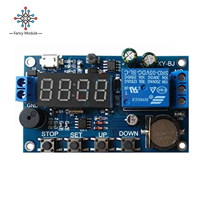 electrical equipments dc 5v real time timing delay timer relay module switch  control clock synchronization multiple mode control wiring diagram - -  amazon