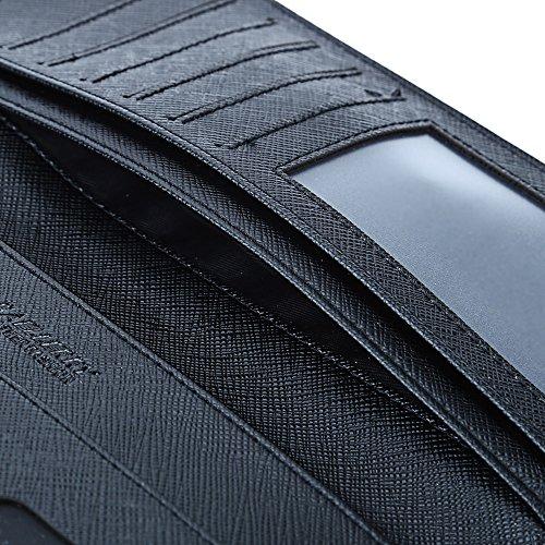 Unie Noir Cartes Photo Avec Xxiazhi Et À Couleur Pour Verticales Hommes Mince Doux portefeuille Long qF16wAn8