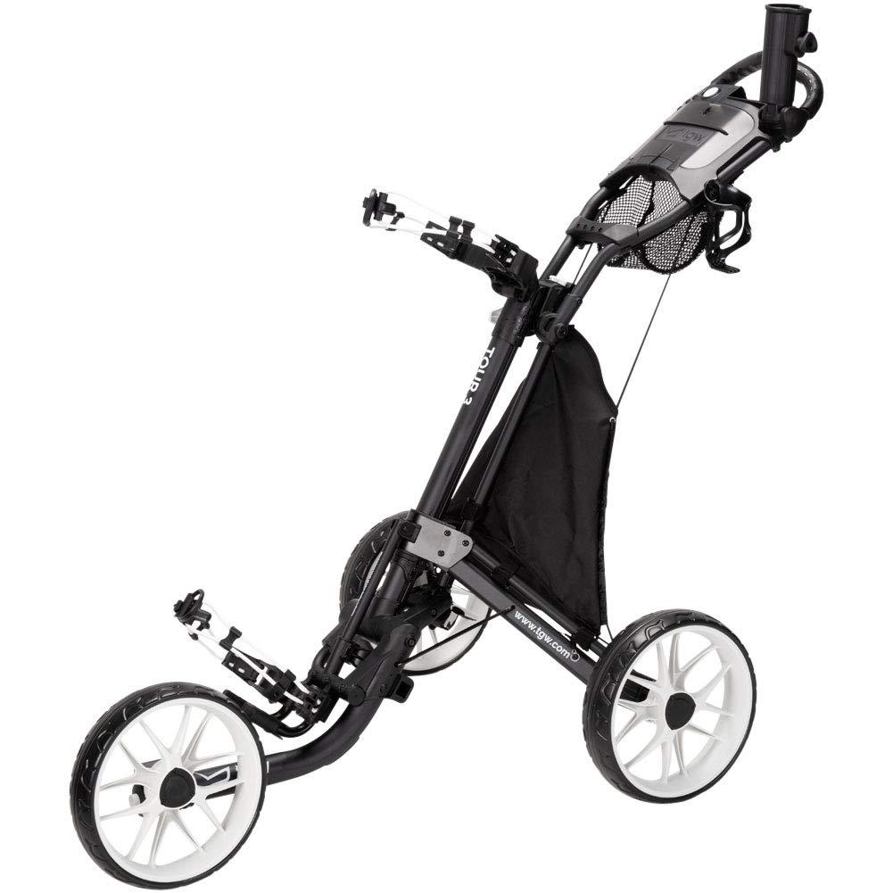 TGW Tour 3-Wheel Push Cart Dark Grey/White